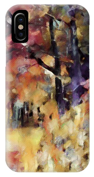 IPhone Case featuring the mixed media I Dream Of Fall by Susan Maxwell Schmidt