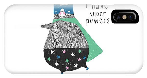 I Have Super Powers - Baby Room Nursery Art Poster Print IPhone Case