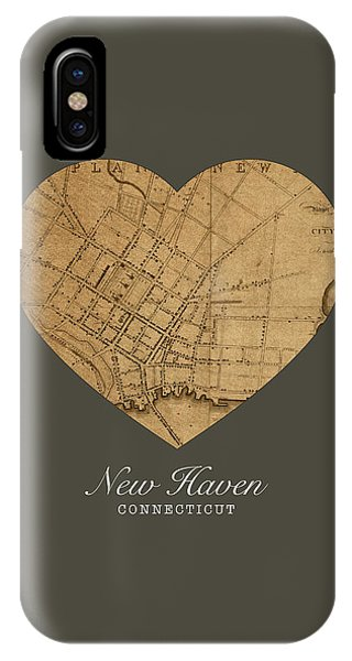 Haven iPhone Case - I Heart New Haven Connecticut Street Map Love Series No 148 by Design Turnpike