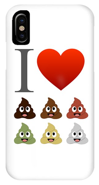 Toilet Humor iPhone Case - I Love Pooping- Various Cute Faeces by Shawlin