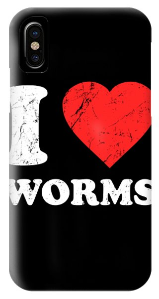 I Love Worms IPhone Case