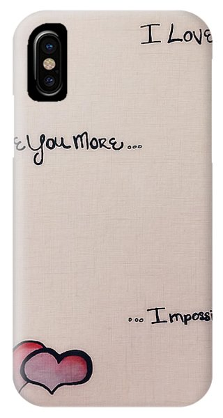 My Son iPhone Case - I Love You More by Lkb Art And Photography