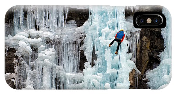 Achievement iPhone Case - Ice Climbing by Alessandro Colle