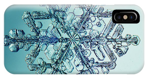 Icing iPhone Case - Ice Crystal Snowflake Macro by Kichigin