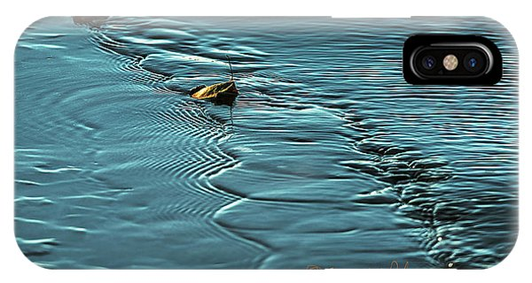 IPhone Case featuring the photograph Ice Leaf Water by Edward Peterson