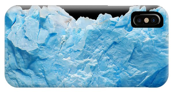 Argentina iPhone X Case - Icebergs Isolated On Black by Canadastock