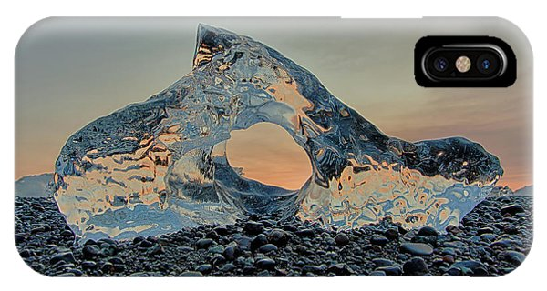 Iceland Diamond Beach Abstract  Ice IPhone Case