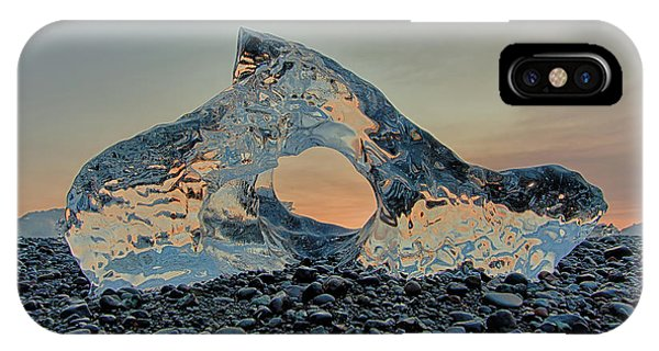 IPhone Case featuring the photograph Iceland Diamond Beach Abstract  Ice by Nathan Bush