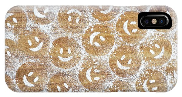 IPhone Case featuring the photograph Icing Sugar Smiley Faces by Tim Gainey