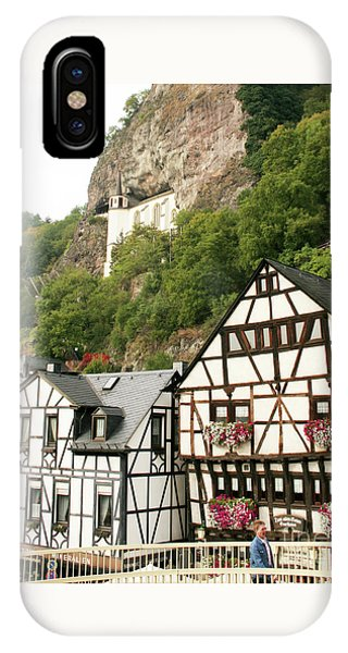 IPhone Case featuring the photograph Idar-oberstein-view On A Bridge by PJ Boylan