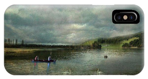 Idyllic Swans Lake IPhone Case