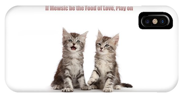 IPhone Case featuring the photograph If Mewsic Be The Food Of Love, Play On by Warren Photographic