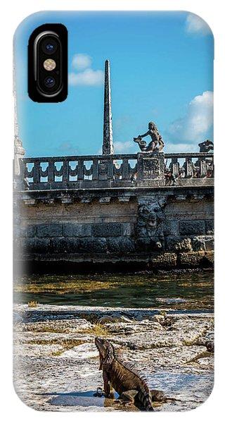 Iguana At Vizcaya Barge IPhone Case