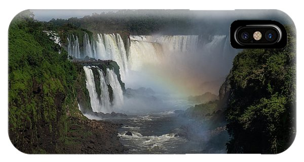 Iguazu Falls With A Rainbow IPhone Case