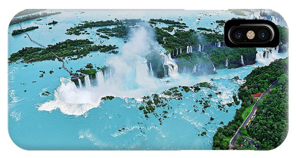 Argentina iPhone X Case - Iguazu Waterfalls From Helicopter by Elena Odareeva