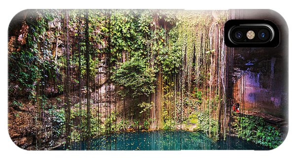 Under Water iPhone Case - Ik-kil Cenote,  Mexico by Galyna Andrushko