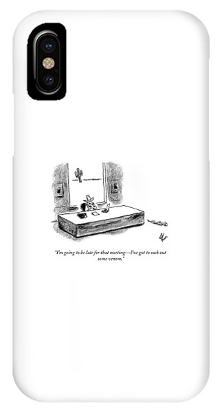 I'll Be Late IPhone Case