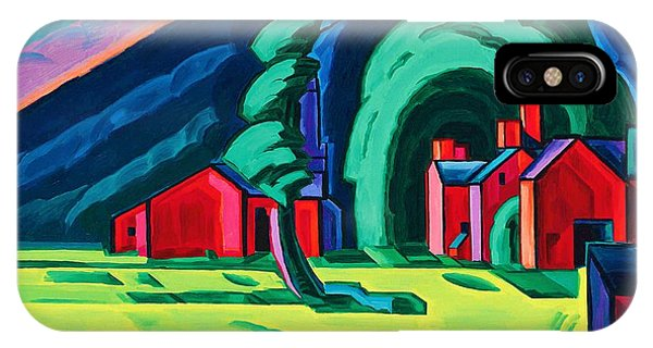 Illusion iPhone Case - Illusion Of A Prairie, New Jersey - Digital Remastered Edition by Oscar Bluemner