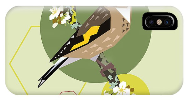 Form iPhone Case - Illustration Of A Bird On Blooming by Radiocat