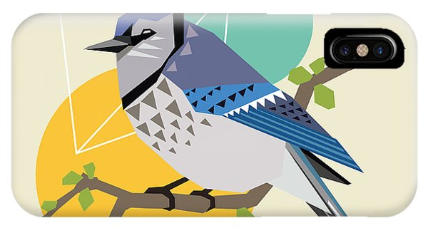 Form iPhone Case - Illustration Of A Blue Bird On Branch by Radiocat