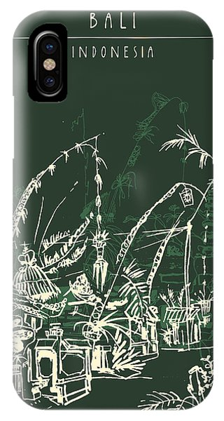 Culture iPhone Case - Illustration Of A Decorated Street In by Babayuka