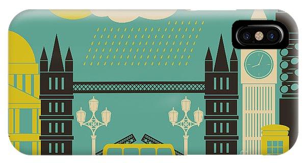 Illustration Of London Symbols And Phone Case by Iveta Angelova