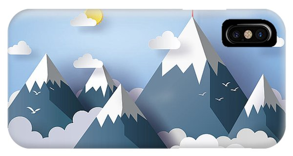 Flight iPhone Case - Illustration Of Nature Landscape And by Keng  Merry Paper Art