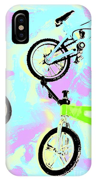 Pastel iPhone Case - Illustrative Bike Pastel by Jorgo Photography - Wall Art Gallery