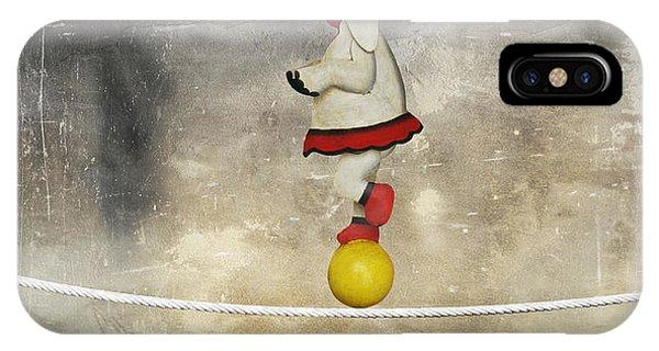 Surrealistic iPhone Case - Illustrative Funny Female Elephant by Valentina Photos