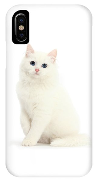 IPhone Case featuring the photograph I'm All White by Warren Photographic