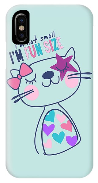 I'm Not Small, I'm Fun Size - Baby Room Nursery Art Poster Prin IPhone Case