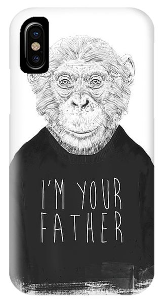 Typography iPhone Case - I'm Your Father by Balazs Solti