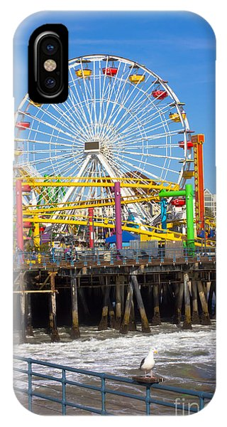 Hotel iPhone Case - Image Of A Popular Destination The Pier by Littlenystock