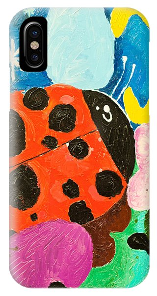 Space iPhone Case - Image Of Ladybug And A Butterfly by Dmitriip