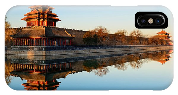 Forbidden City iPhone Case - Imperial Palace Over Lake In The by Songquan Deng