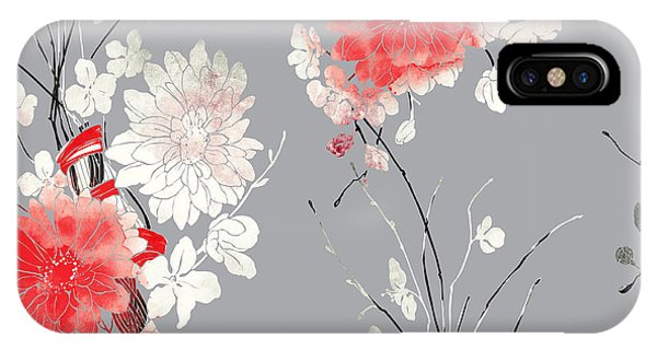 Seamless iPhone Case - Imprints Sakura And Chrysanthemum. Hand by Liia Chevnenko