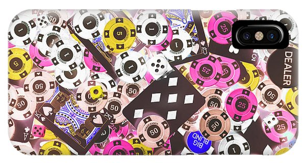 Table iPhone Case - In Casino Colors by Jorgo Photography - Wall Art Gallery