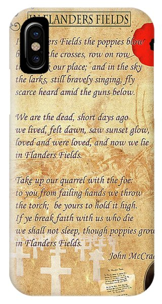 Poetry iPhone Case - In Flanders Fields by Andrew Fare