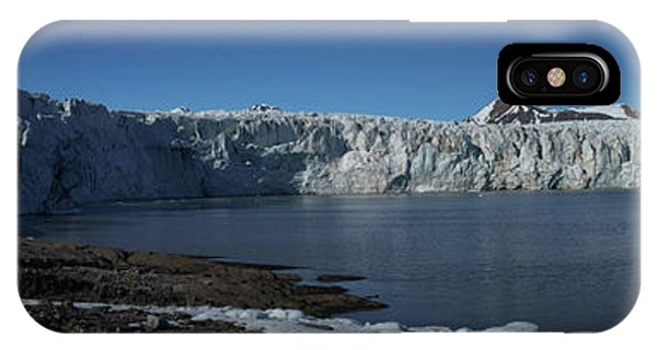 In Front Of A Glacier On Svalbard IPhone Case