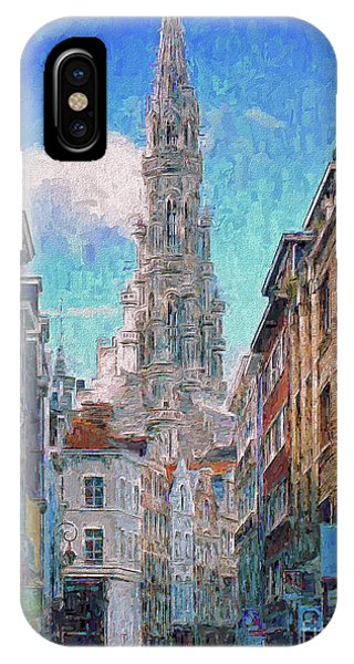 In-spired  Street Scene Brussels IPhone Case