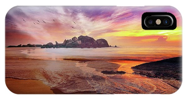 Incoming Tide At Sunset IPhone Case