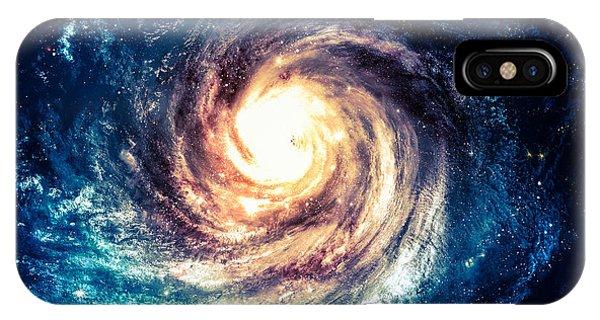 Space iPhone Case - Incredibly Beautiful Spiral Galaxy by Vadim Sadovski