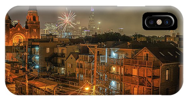 Chicago iPhone Case - Independence Day In Chicago by Bruno Passigatti