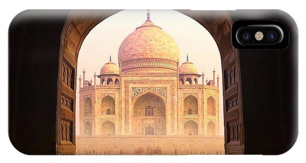 Dome iPhone Case - India. Taj Mahal Indian Palace. Islam by Banana Republic Images
