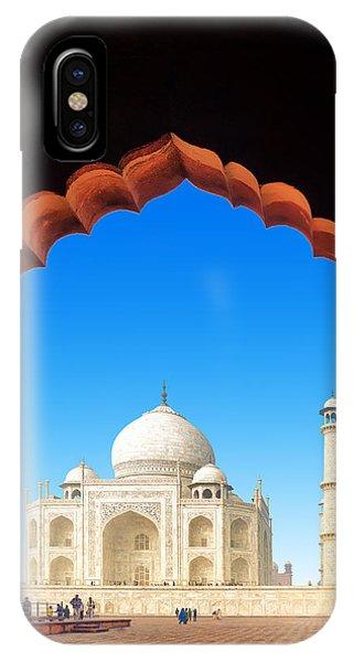 Dome iPhone Case - India Taj Mahal. Indian Palace Tajmahal by Banana Republic Images