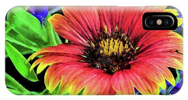 Indian Blanket Flower Closeup IPhone Case