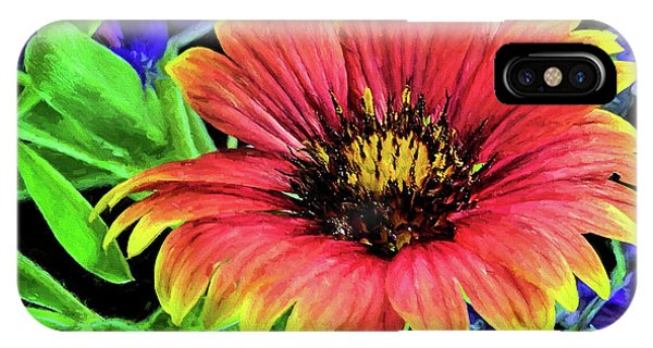 IPhone Case featuring the photograph Indian Blanket Flower Closeup by JC Findley