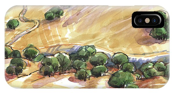 IPhone Case featuring the painting Indian Creek Valley From Shell Ridge by Judith Kunzle