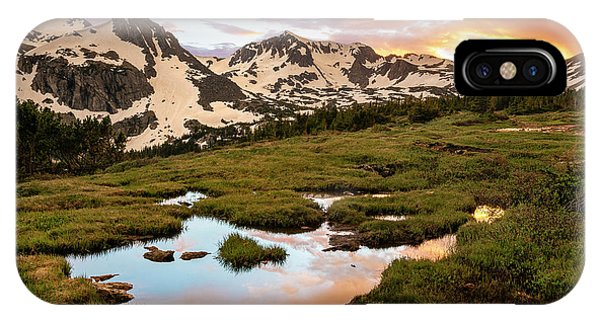 Indian Peaks Sunset Phone Case by Aaron Spong