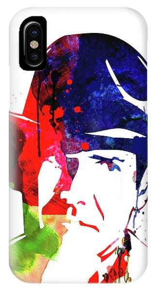 Harrison iPhone Case - Indiana Jones Watercolor by Naxart Studio